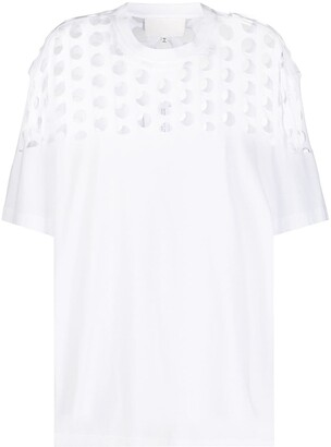 Maison Margiela perforated oversized T-shirt
