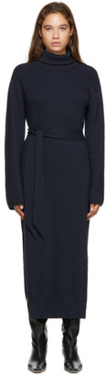 Nanushka Navy Canaan Turtleneck Dress