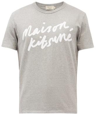 MAISON KITSUNÉ Logo-print Cotton T-shirt - Grey