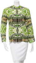 Alice + Olivia Long-Sleeve Printed Blouse