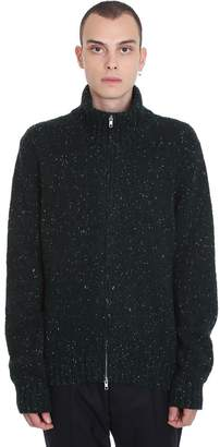 Maison Margiela Cardigan In Green Wool