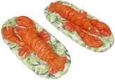 One Kings Lane Vintage Majolica Lobster Salt Cellars