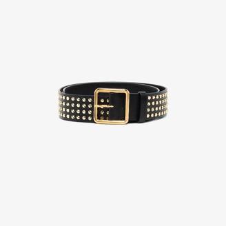 Alexander McQueen Black studded leather belt