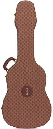 Gucci Burgundy and Tan Ophidia Guitar Case