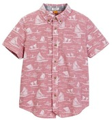 Tailor Vintage Voyage Print Chambray Short Sleeve Top (Little Boys & Big Boys)