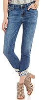 Celebrity Pink Crochet Hem Stretch Denim Ankle Skinny Jeans