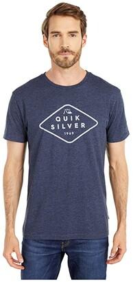 Quiksilver Island Beat Short Sleeve (Navy Blazer Heather) Men's Clothing