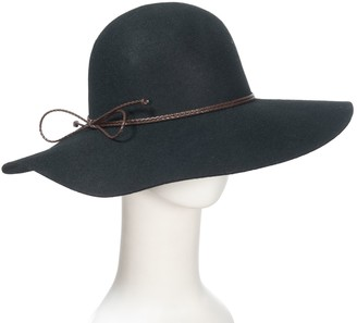 Anthony Maxwell Floppy Wool Felt Hat with Braided Leather Band