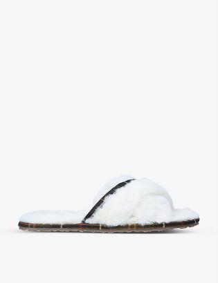 Barbour Lottie faux-fur slippers