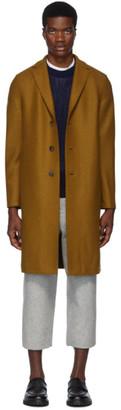 Harris Wharf London Brown Wool Pressed Overcoat