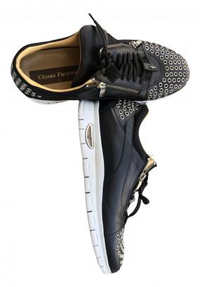 Cesare Paciotti Black Exotic leathers Lace ups