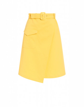 Boutique Moschino Portfolio Skirt In Piquet Woman Yellow Size 42 It - (8 Us)