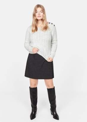 MANGO Metallic thread sweater