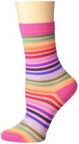 Paul Smith Stripe Sock (Hot Pink) Women's Crew Cut Socks Shoes