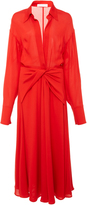 Victoria Beckham Twisted Silk Midi Dress