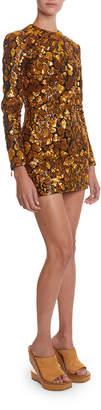 Balmain Sequined Giraffe-Patterned Mini Dress