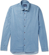 Altea - Regent Penny-collar Cotton-chambray Shirt