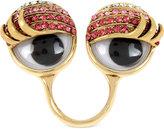 Betsey Johnson Gold-Tone Pavé Googly Eye Statement Ring