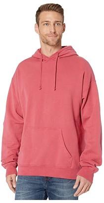 Hanes Comfortwashtm Garment Dyed Fleece Hoodie Sweatshirt (Black) Clothing