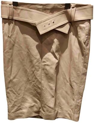 Gucci Ecru Leather Skirts