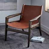 west elm Felipe Leather Sling Chair