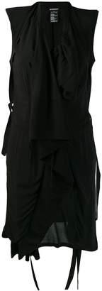 Ann Demeulemeester asymmetric draped vest