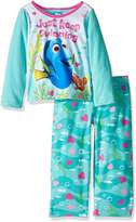 "Disney Finding Dory Little Girls' ""Heart Bubbles"" 2-Piece Pajamas"