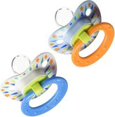 NUK BPA Free Silicone Dots Pacifier 2 Pack - Size 1 - Boys