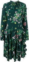 Rochas floral print gathered dress - women - Silk/Cupro - 38