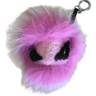 Fendi Bag Bug Pink Chinchilla Bag charms