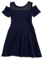 Sally Miller Girls 7-16 Girls Amy Cold-Shoulder Textured Dress