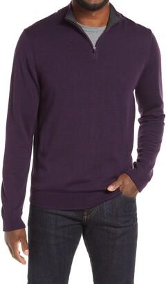 Nordstrom Merino Quarter Zip Sweater