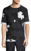 3.1 Phillip Lim Double Sleeve Floral Tee