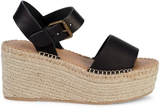 Soludos Minorca Leather Espadrille Platform Sandals
