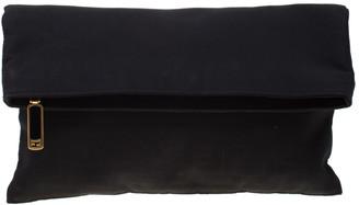 Fendi Black Zucca Fabric Fold Over Clutch