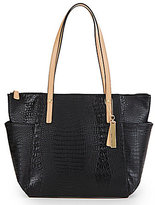Kate Landry Crocodile-Embossed Tote