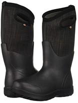 Bogs Neo-Classic Linen Tall (Black Multi) Women's Rain Boots