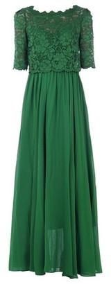 Dorothy Perkins Womens Jolie Moi Green Lace Overlay Maxi Dress, Green