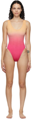 BOUND by Bond-Eye Pink and Orange The Mara One-Piece Swimsuit