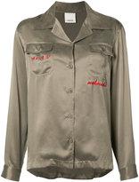 MHI embroidered blouse - women - Silk - 8