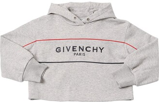 Givenchy Cropped Cotton Sweatshirt Hoodie