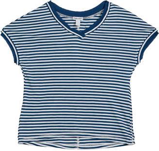 Splendid Slub Jersey Striped V-Neck Tee, Size 7-14