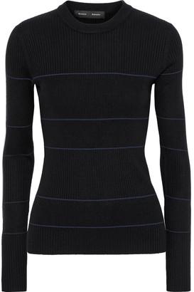Proenza Schouler Striped Ribbed Silk-blend Sweater