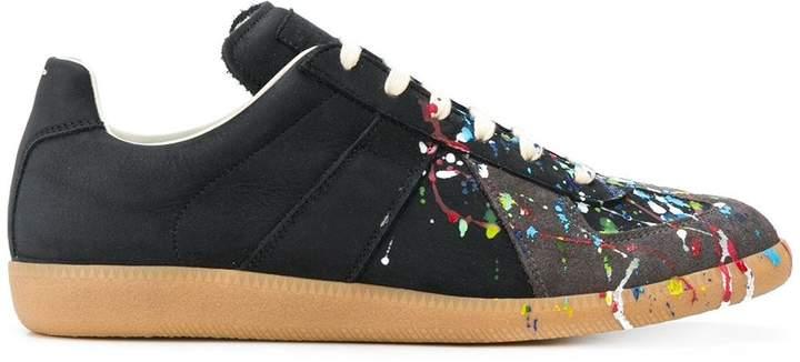 bcd91419307 Replica paint-splatter sneakers