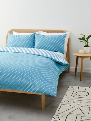 John Lewis & Partners Diagonal Stripe Duvet Cover Set