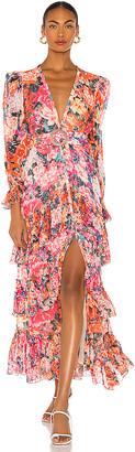 Rococo Sand Peony Maxi Dress