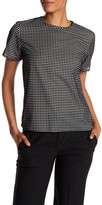 The Kooples Sheer Shirt with Flocked Check Pattern