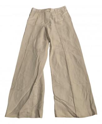 Anne Valerie Hash White Linen Trousers
