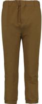 Marni Cropped cotton-blend twill straight-leg pants