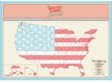 Luckies Scratch Map USA Travel